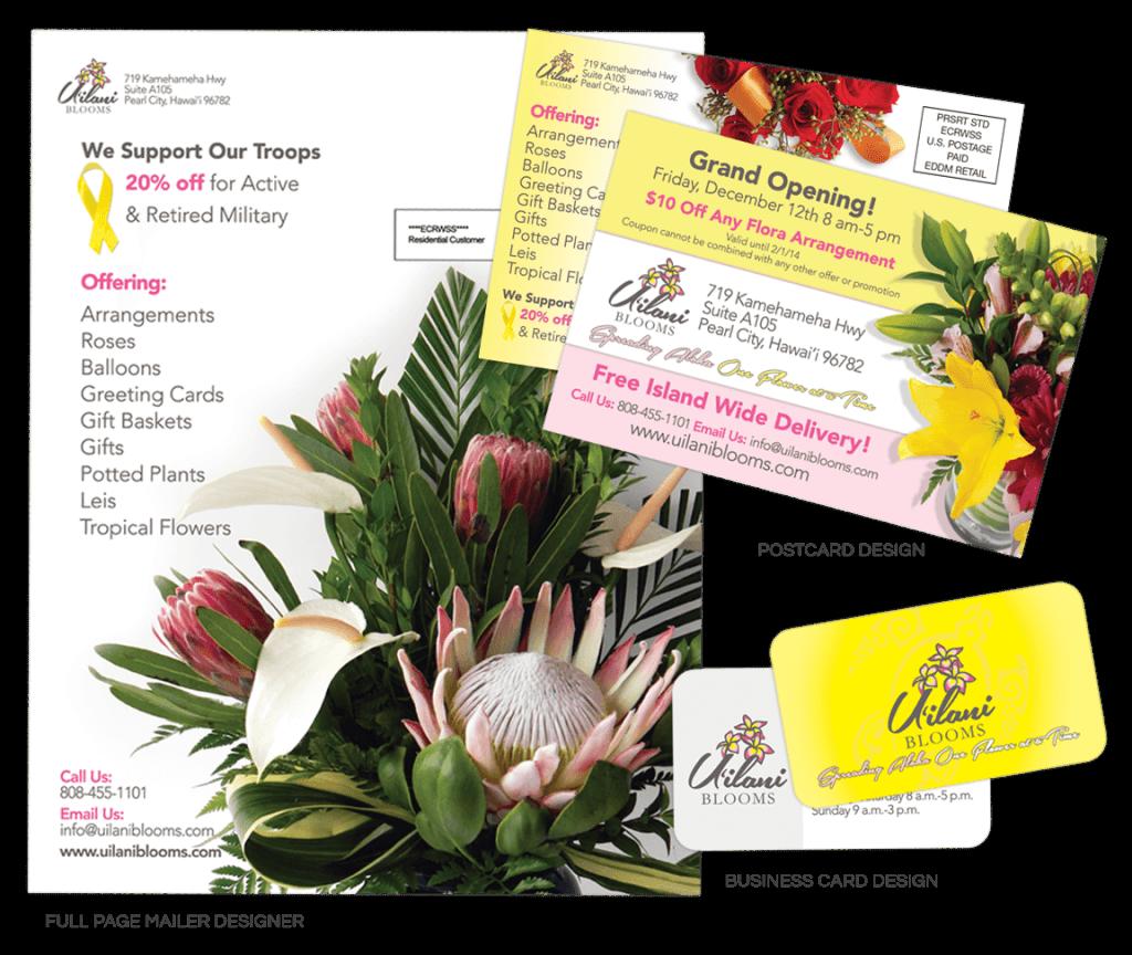 Uilani Blooms Promotional Material Design