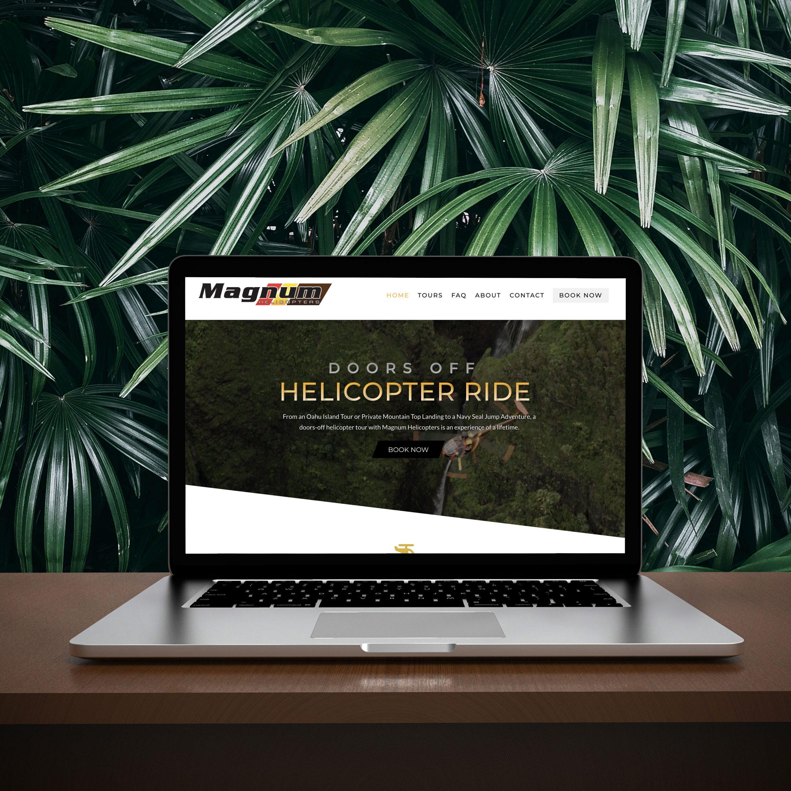 Magnum Helicopters- Website Redesign